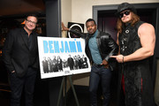 "Bob Saget,  Lyriq Bent, and James Preston Rogers attend the 18th Annual International Beverly Hills Film Festival ""Benjamin"" Premiere After Party at Beauty & Essex on April 4, 2018 in Los Angeles, California."