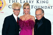 Murray (L), Shawn King and Larry King pose for a photo at the 18th Annual Larry King Cardiac Foundation Gala at Ritz Carlton Hotel on May 19, 2012 in Washington, DC.