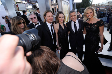 Brad Pitt George Clooney 18th Annual Screen Actors Guild Awards - Red Carpet