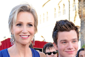 Jane Lynch Chris Colfer 18th Annual Screen Actors Guild Awards - Red Carpet
