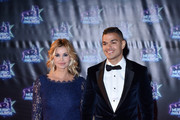 Ingrid Chauvin and Hatem Ben Arfa attend the 18th NRJ Music Awards at Palais des Festivals on November 12, 2016 in Cannes, France.