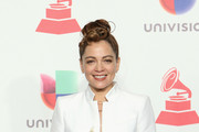 Natalia Lafourcade poses in the press room during the 19th annual Latin GRAMMY Awards at MGM Grand Garden Arena on November 15, 2018 in Las Vegas, Nevada.