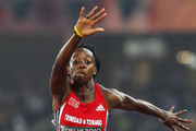 Ayanna Alexander of Trinidad and Tobago competes in the women's triple jump during day five of the Delhi 2010 Commonwealth Games at the Jawaharlal Nehru Stadium on October 8, 2010 in Delhi, India.