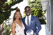 Sterling K. Brown (R) and his wife, Ryan Michelle Bathe, attend the 1st annual AAFCA TV Honors at California Yacht Club on August 11, 2019 in Marina del Rey, California.