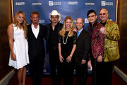 Singer-songwriter Colbie Caillat, actor Sean Penn, singer-songwriter Brad Paisley, Tracie Hamilton of J/P Haitian Relief Organization, figure skater Scott Hamilton, and co-hosts Newman Arndt and Johnathon Arndt attend the 1st Annual Nashville Shines for Haiti concert benefiting J/P Haitian Relief Organization - Day 2 hosted by Johnathon Arndt and Newman Arndt on April 27, 2016 in Nashville, Tennessee.