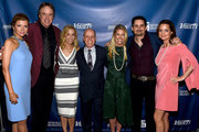 (L-R) Actors Susan Yeagley and Kevin Nealon, singer-songwriter Sheryl Crow, figure skater Scott Hamilton, Tracie Hamilton of J/P HRO, singer-songwriter Brad Paisley, and actor Kimberly Williams-Paisley attend the 1st Annual Nashville Shines for Haiti concert benefiting J/P Haitian Relief Organization - Day 1 on April 26, 2016 in Nashville, Tennessee.