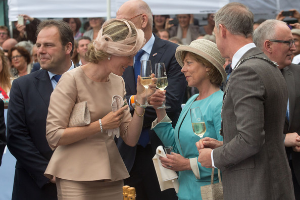 Queen Mathilde of Belgium and Daniela Schadt attend celebrations marking the 200th anniversary of the kingdom of The Netherlands on August 30, 2014 in Maastricht, Netherlands.