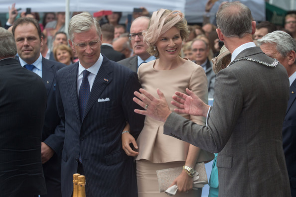 King Philippe and Queen Mathilde of Belgium attend celebrations marking the 200th anniversary of the kingdom of The Netherlands on August 30, 2014 in Maastricht, Netherlands.
