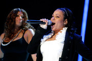 Cheryl James (R) and Sandy Denton of Salt N' Pepa preform during the 2009 Essence Music Festival at the Louisiana Superdome on July 3, 2009 in New Orleans.
