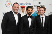 """Actor Jean Reno, director Abdulla Al Kaabi and actor Cyrille Thouvenin attend """"The Philosopher"""" premiere during day six of the 7th Annual Dubai International Film Festival held at the Madinat Jumeriah Complex on December 17, 2010 in Dubai, United Arab Emirates."""