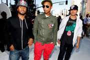 Musicians Shay Haley, Pharrell Williams and Chad Hugo of N.E.R.D.  arrive at the 2010 MTV Video Music Awards at NOKIA Theatre L.A. LIVE on September 12, 2010 in Los Angeles, California.