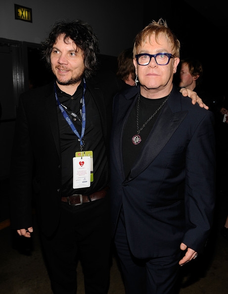Musicians Jeff Tweedy of Wilco and Elton John  attend the 2010 MusiCares Person Of The Year Tribute To Neil Young at  the Los Angeles Convention Center on January 29, 2010 in Los Angeles,  California