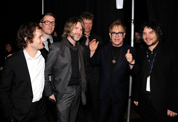 Musical group Wilco and musician Elton John attend  the 2010 MusiCares Person Of The Year Tribute To Neil Young at the Los  Angeles Convention Center on January 29, 2010 in Los Angeles,  California