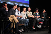 (L-R) David Remnick, Seth Meyers, Kenan Thompson, Kristen Wiig, Jason Sudeikis, Andy Samberg and Fred Armisen during the 2010 New Yorker Festival at Acura at SIR Stage37 on October 3, 2010 in New York City.