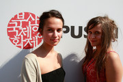 Actress Alicia Vikander and Anna Juhlin of Sweden attend a Audience Meet and Greet 'European Film Promotion (EFP)' at the Haeundae beach during the 15th Pusan International Film Festival (PIFF) on October 10, 2010 in Busan, South Korea. The biggest film festival in Asia showcases 306 films from 67 countries and runs from October 7-15.