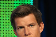 "Actor Eric Mabius speaks during the ""Outcasts"" panel during the BBC America portion of the 2010 Summer TCA press tour held at the Beverly Hilton on August 7, 2010 in Beverly Hills, California."