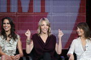 """TV personalities Tracy Ryerson and Nikki Weiss and Executive Producer Ilene Chaiken speak onstage during """"The Real L Word"""" panel during the 2010 Summer TCA Tour Day 2 at the Beverly Hilton Hotel  on July 29, 2010 in Beverly Hills, California."""