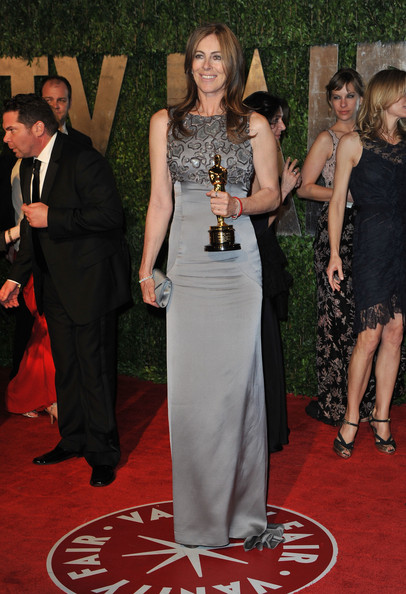 Director Kathryn Bigelow arrives at the 2010 Vanity Fair Oscar Party hosted by Graydon Carter held at Sunset Tower on March 7, 2010 in West Hollywood, California.