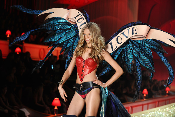 Model Magdalena Frakowiak walks the runway during the 2010 Victoria's Secret Fashion Show at the Lexington Avenue Armory on November 10, 2010 in New York City.