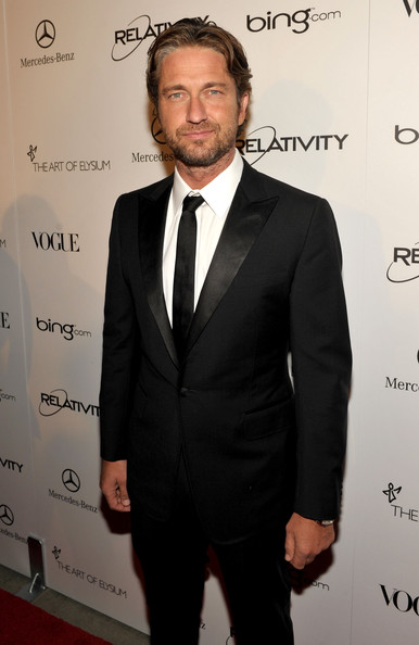 "Actor Gerard Butler arrives at the 2011 Art Of Elysium ""Heaven"" Gala held at the California Science Center on January 15, 2011 in Los Angeles, California."
