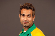 Imran Tahir of South Africa poses during a portrait session ahead of the 2011 ICC World Cup at the Sheraton Hotel and Towers on February 11, 2011 in Chennai, India.