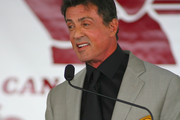 Sylvester Stallone speaks during his induction speech at the 2011 International Boxing Hall of Fame Inductions at the International Boxing Hall of Fame   on June 12, 2011 in Canastota, New York.Stallone is a 2011 inductee.