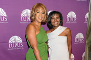 Gayle King and Deborah Roberts attend the 2011 Lupus Foundations Of America Butterfly Gala at The Pierre Hotel on October 11, 2011 in New York City.