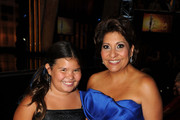Actress Madison De La Garza (L) and NCLR President and CEO Janet Murguia pose in the audience during the 2011 NCLR ALMA Awards held at Santa Monica Civic Auditorium on September 10, 2011 in Santa Monica, California.