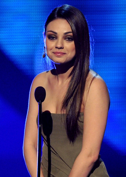 Actress Mila Kunis speaks onstage during the 2011 People's Choice Awards at Nokia Theatre L.A. Live on January 5, 2011 in Los Angeles, California.