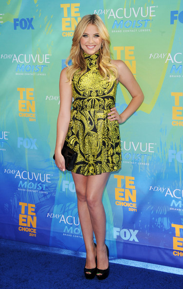 Actress Ashley Benson arrives at the 2011 Teen Choice Awards held at the Gibson Amphitheatre on August 7, 2011 in Universal City, California.