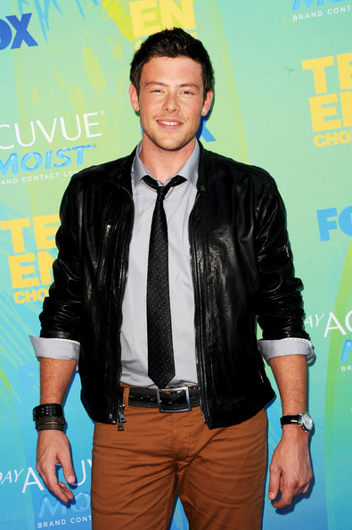 Actor Cory Monteith arrives at the 2011 Teen Choice Awards held at the Gibson Amphitheatre on August 7, 2011 in Universal City, California.