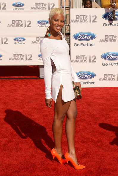 Model Eva Pigford arrives at the 2012 BET Awards at The Shrine Auditorium on July 1, 2012 in Los Angeles, California.