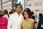 Actor Fonzworth Bentley (L) and Faune Watkins arrive at the 2012 BET Awards at The Shrine Auditorium on July 1, 2012 in Los Angeles, California.
