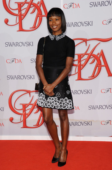Shala Monroque attends the 2012 CFDA Fashion Awards at Alice Tully Hall on June 4, 2012 in New York City.