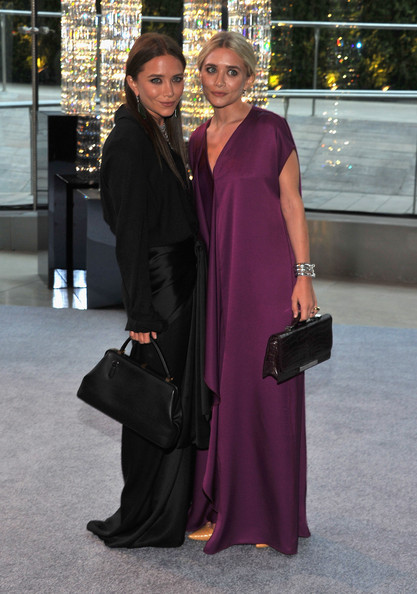 Ashley Olsen and Mary Kate Olsen attend the 2012 CFDA Fashion Awards at Alice Tully Hall on June 4, 2012 in New York City.