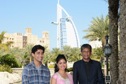 """Actors Suraj Sharma, Shravanthi Sainath and Adil Hussain attend the """"Life of PI"""" photocall during day one of the 9th Annual Dubai International Film Festival held at the Madinat Jumeriah Complex on December 9, 2012 in Dubai, United Arab Emirates."""