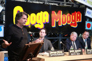 (L-R) Designer David Rockwell, President of Superfly Presents, Jonathan Mayers, Brooklyn Bourough President Marty Markowitz and  NYC Commissioner of Parks & Recreation Adrian Benepe attend the 2012 Great Googa Mooga Festival press conference at The Bowery Ballroom on March 8, 2012 in New York City.