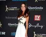 Actress Esther Anderson arrives at the 2012 Logie Awards at the Crown Palladium on April 15, 2012 in Melbourne, Australia.