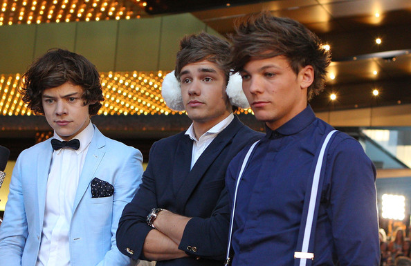 Niall Horan, Liam Payne, Harry Styles, Zayn Malik and Louis Tomlinson of One Direction arrive at the 2012 Logie Awards at the Crown Palladium on April 15, 2012 in Melbourne, Australia.