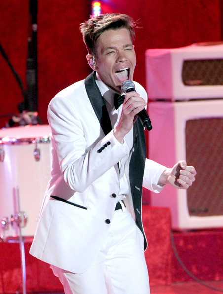 Singer Nate Ruess of Fun. performs onstage during the 2012 MTV Movie Awards held at Gibson Amphitheatre on June 3, 2012 in Universal City, California.