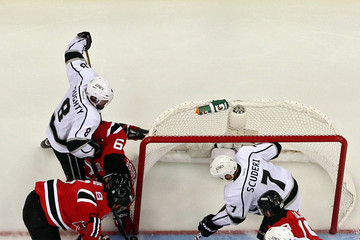 Mike Richards Dustin Penner 2012 NHL Stanley Cup Final - Game One