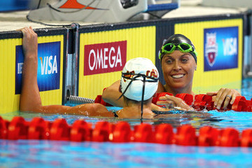 Amanda Beard Rebecca Soni 2012 U.S. Olympic Swimming Team Trials - Day 2