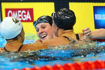 Natalie Coughlin Missy Franklin 2012 U.S. Olympic Swimming Team Trials - Day 3