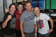 Don Jamieson, Jim Breuer, Jim Florentine and Lars Ulrich attend the 2012 Orion Music + More Festival at Bader Field on June 23, 2012 in Atlantic City, New Jersey.