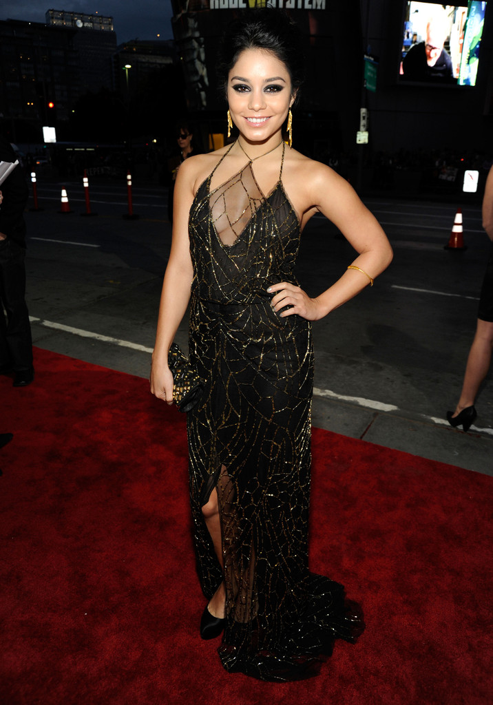 Vanessa Hudgens 39 Black Dress Vanessa Hudgens Zimbio