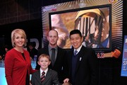 Jenny Long,  2012 Sportskid Conner Long (L), Jeff Long, Cayden Long and managing editor of Sports Illustrated for Kids Bob Der attend the 2012 Sports Illustrated Sportsman of the Year award presentation at Espace on December 5, 2012 in New York City.