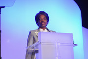 FCC Commissioner Mignon Clyburn gives her keynote speech during 2012 WICT Leadership Conference at Hilton New York on September 10, 2012 in New York City.