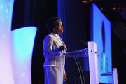 FCC Commissioner Mignon Clyburn, speaks during 2012 WICT Touchstones Luncheon at Hilton New York on September 10, 2012 in New York City.
