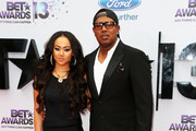 Actress Cymphonique Miller and father Master P. attends the 2013 BET Awards at Nokia Theatre L.A. Live on June 30, 2013 in Los Angeles, California.