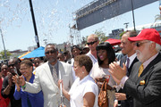 Congresswoman Karen Bass, City Councilmember Curren Price, Chairman and Chief Executive Officer of BET, Debra L. Lee, and Compton Mayor Aja Brown attend the Fan Fest Outdoor during the 2013 BET Experience at L.A. LIVE on June 28, 2013 in Los Angeles, California.